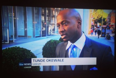 ITV News interview with Tunde Okewale