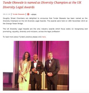 Diversity Champion - UK Diversity Legal Awards
