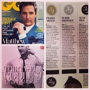 GQ - Most Influential Men Under 38.5