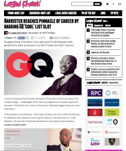 Legal Cheek on GQ story